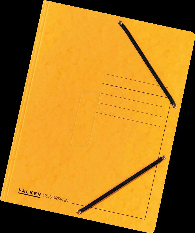 Eckspannmappe gelb für Format A4