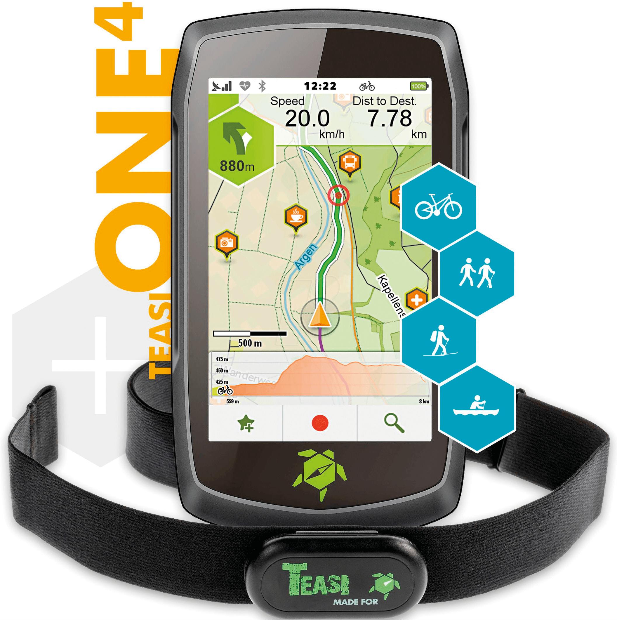 TEASI ONE 4HR - Outdoor navigation device incl  HR sensor