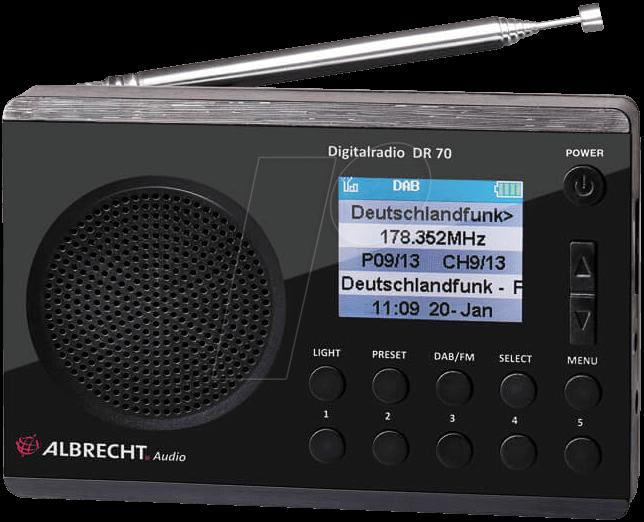ALBRECHT DR70 - Digitalradio, DAB+/UKW