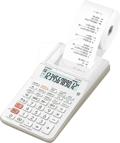 CASIO HR-8RCE-WS - Druckender Tischrechner CASIO HR-8RCE