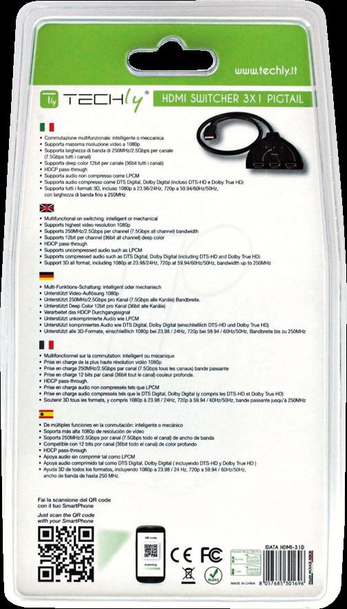 IDA HDMI-31D - HDMI Switch Full HD, 1080p, 3D, 3 Port