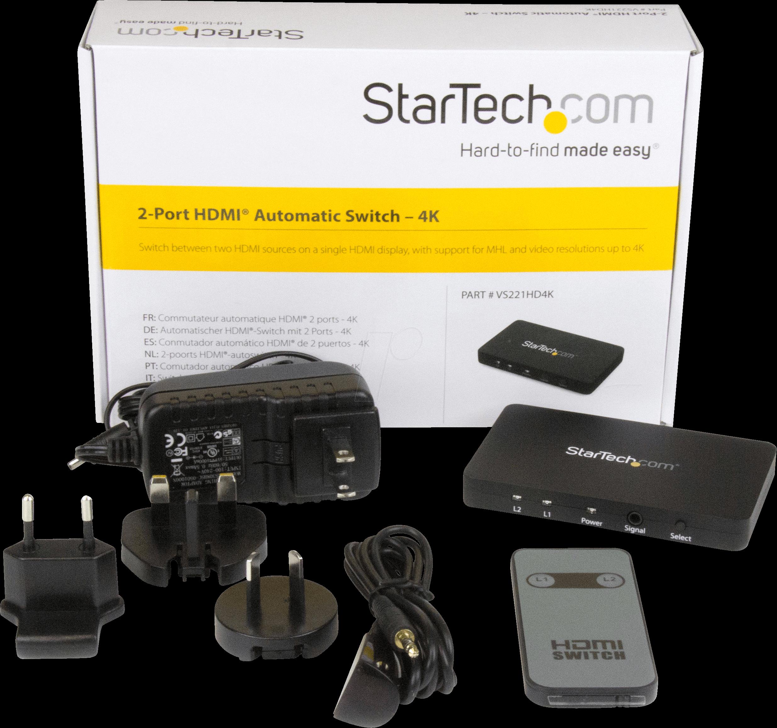 ST VS221HD4K - 2-Port HDMI automatic video switch - 4K