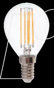 VT-4425 - LED-Lampe E14, 4 W, 400 lm, 4500 K, Filament