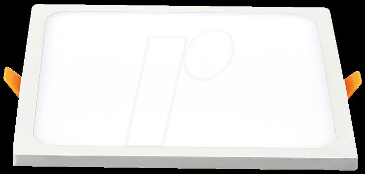 VT-4944 - LED-Panel, 8 W, 560 lm, 4500 K, quadratisch