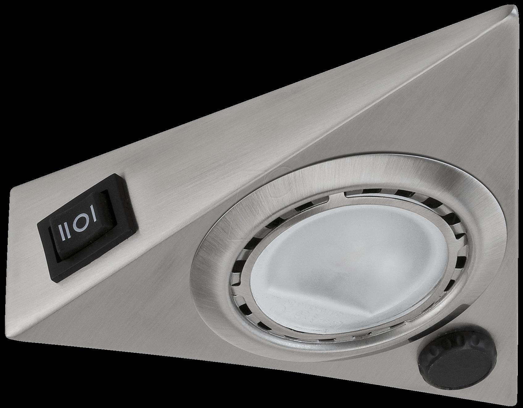 PLM 93500 - Möbelaufbauleuchte MicroLine, 20 W, 245 lm, eckig, silber