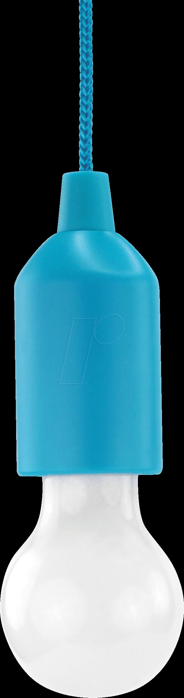 ANS 1600-0174 - Pendelleuchte mit Batterie, PL1W, 25 lm, blau, 3x AAA (Micro)
