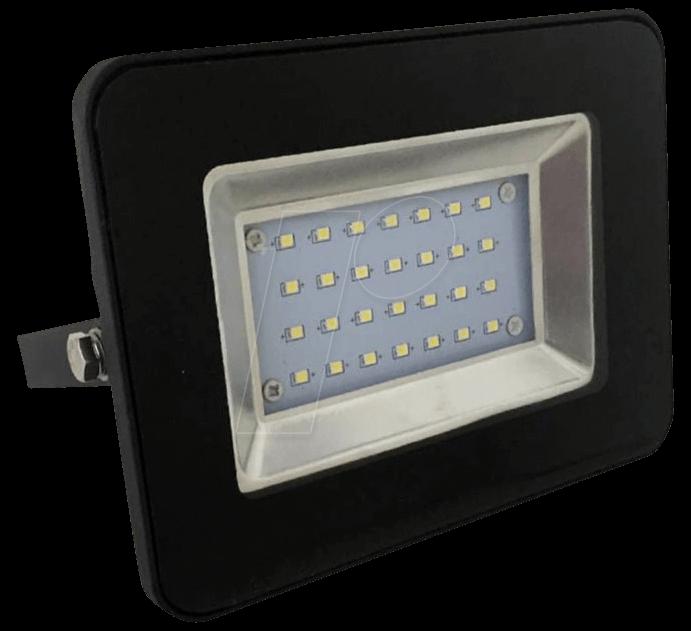VT-5876 - LED-Flutlicht, 10 W, 850 lm, 4500 K, schwarz, IP65