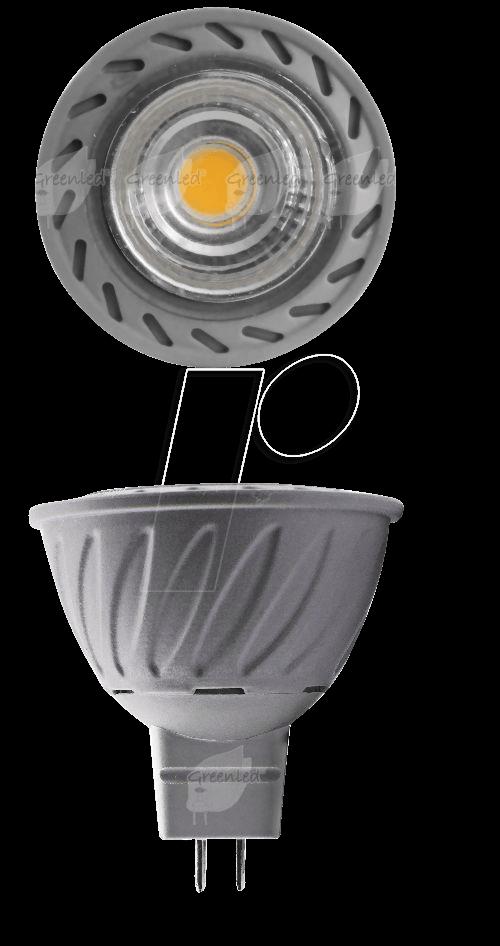 gl gu5 3 0043 led lampe gu5 3 7 w 380 lm 3000 k bei reichelt elektronik. Black Bedroom Furniture Sets. Home Design Ideas