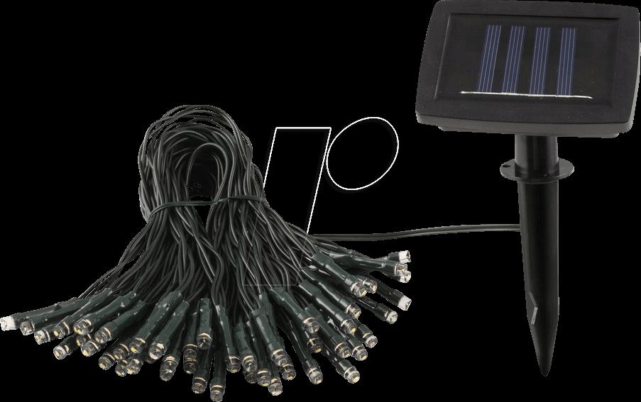HEIT 35458 - LED-Solarleuchte, Lichterkette 50 LED, IP44, BARI