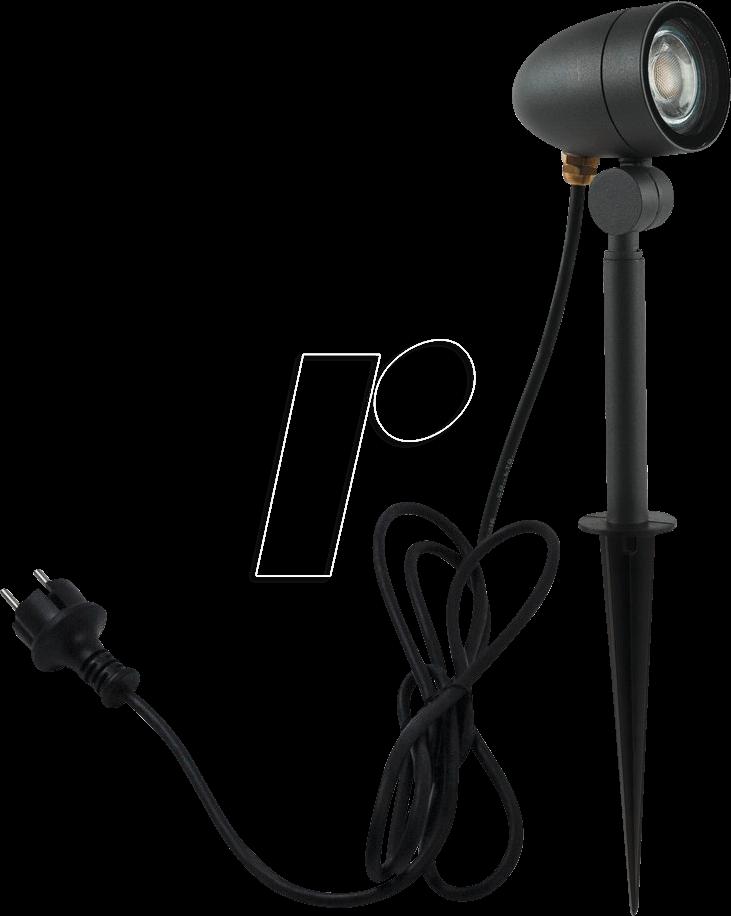 HEIT 35833 - Erdspießleuchte, GU10, schwarz, IP68