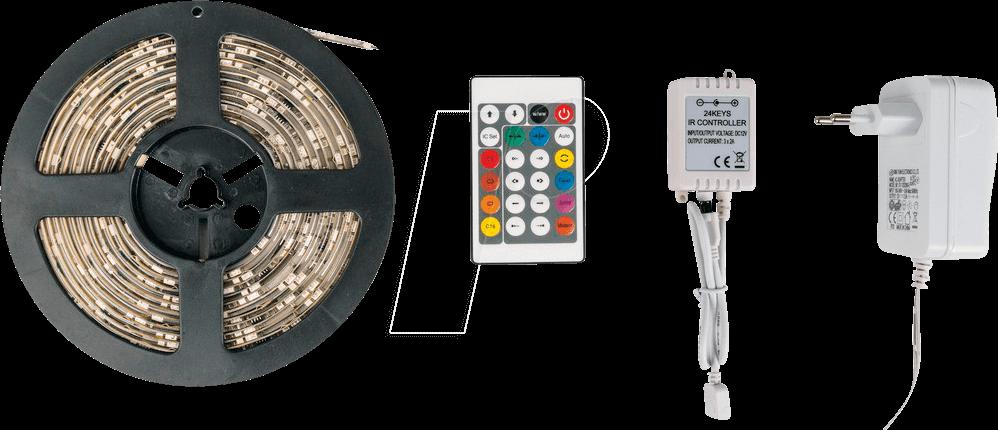 HEITRONIC LED STRIP 3er Set RGB 9 Watt Farbwechsel Fernbedienung Effekt Streifen