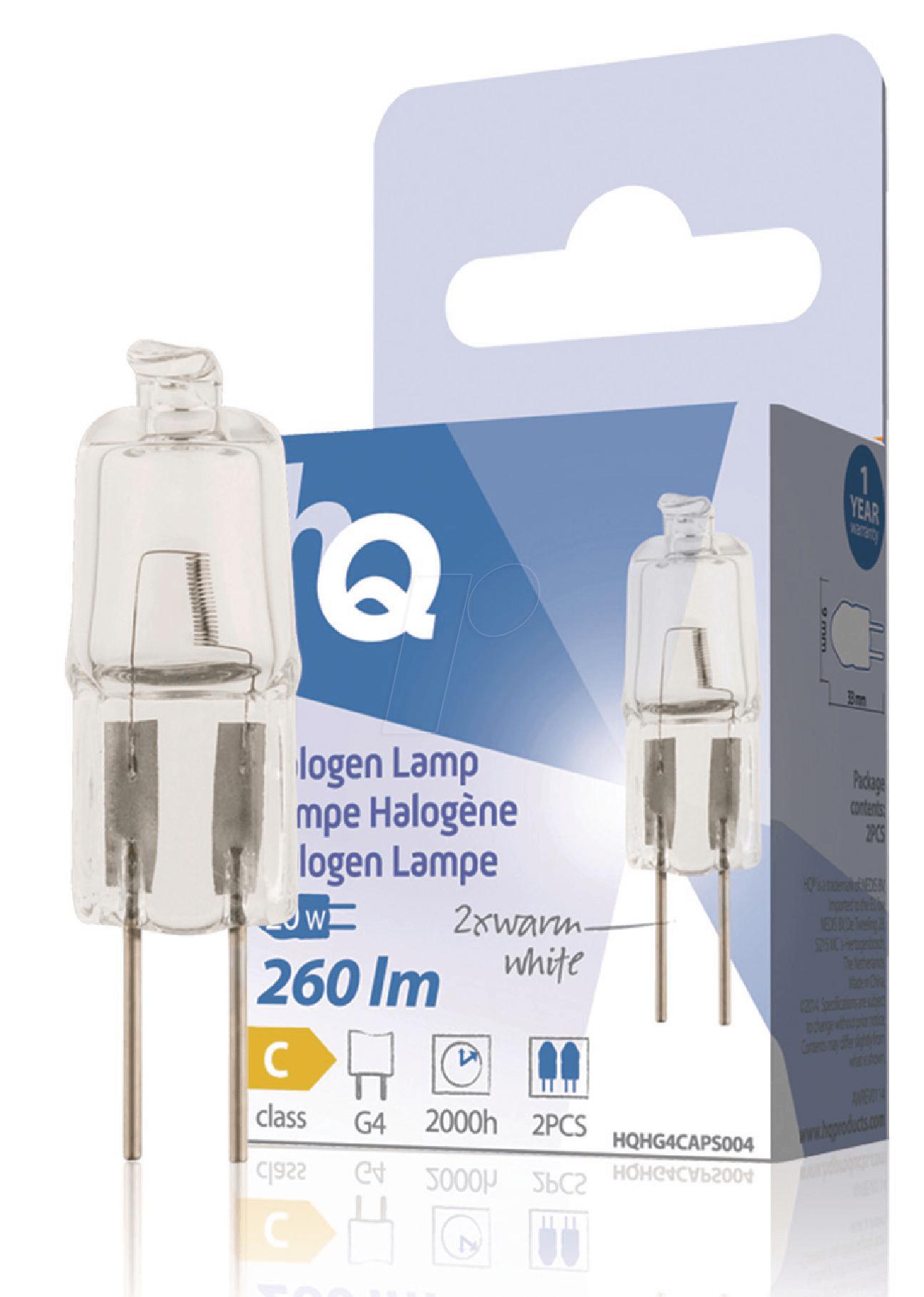 hq hg4caps004 halogen stiftsockellampe g4 20 w 260 lm 2800 k dimmbar bei reichelt elektronik. Black Bedroom Furniture Sets. Home Design Ideas