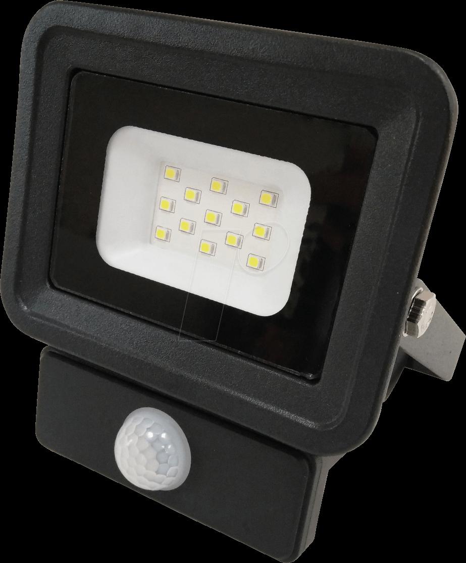 OPT FL5854 - LED-Fluter, Bewegungsmelder, 10 W, 850 lm, 4500 K, IP65