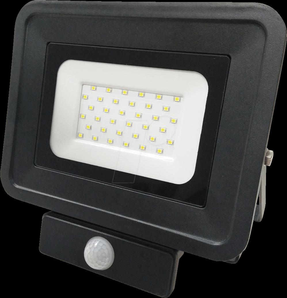 OPT FL5860 - LED-Fluter, Bewegungsmelder, 30 W, 2250 lm, 4500 K, IP65