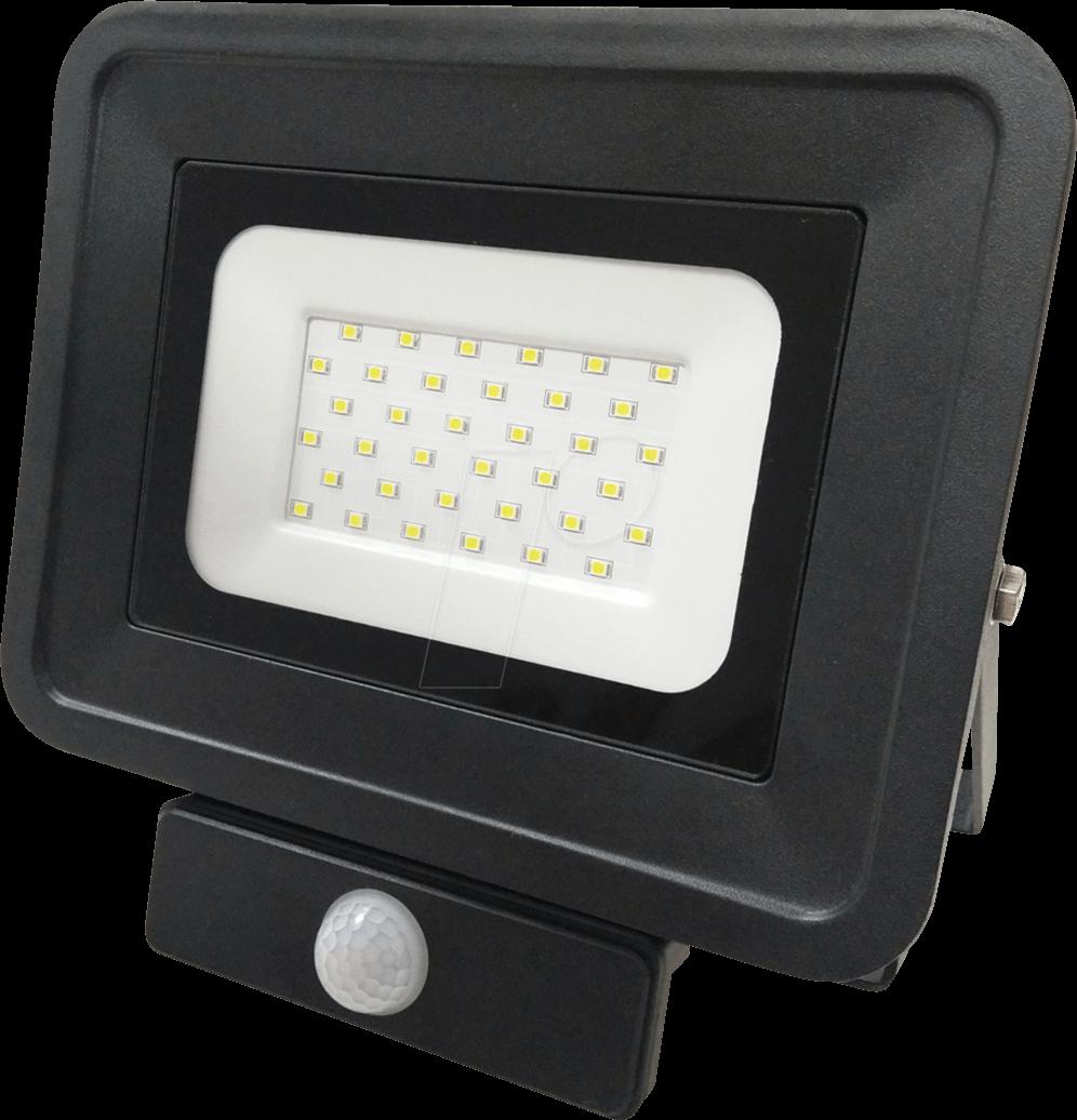 OPT FL5861 - LED-Fluter, Bewegungsmelder, 30 W, 2250 lm, 2700 K, IP65