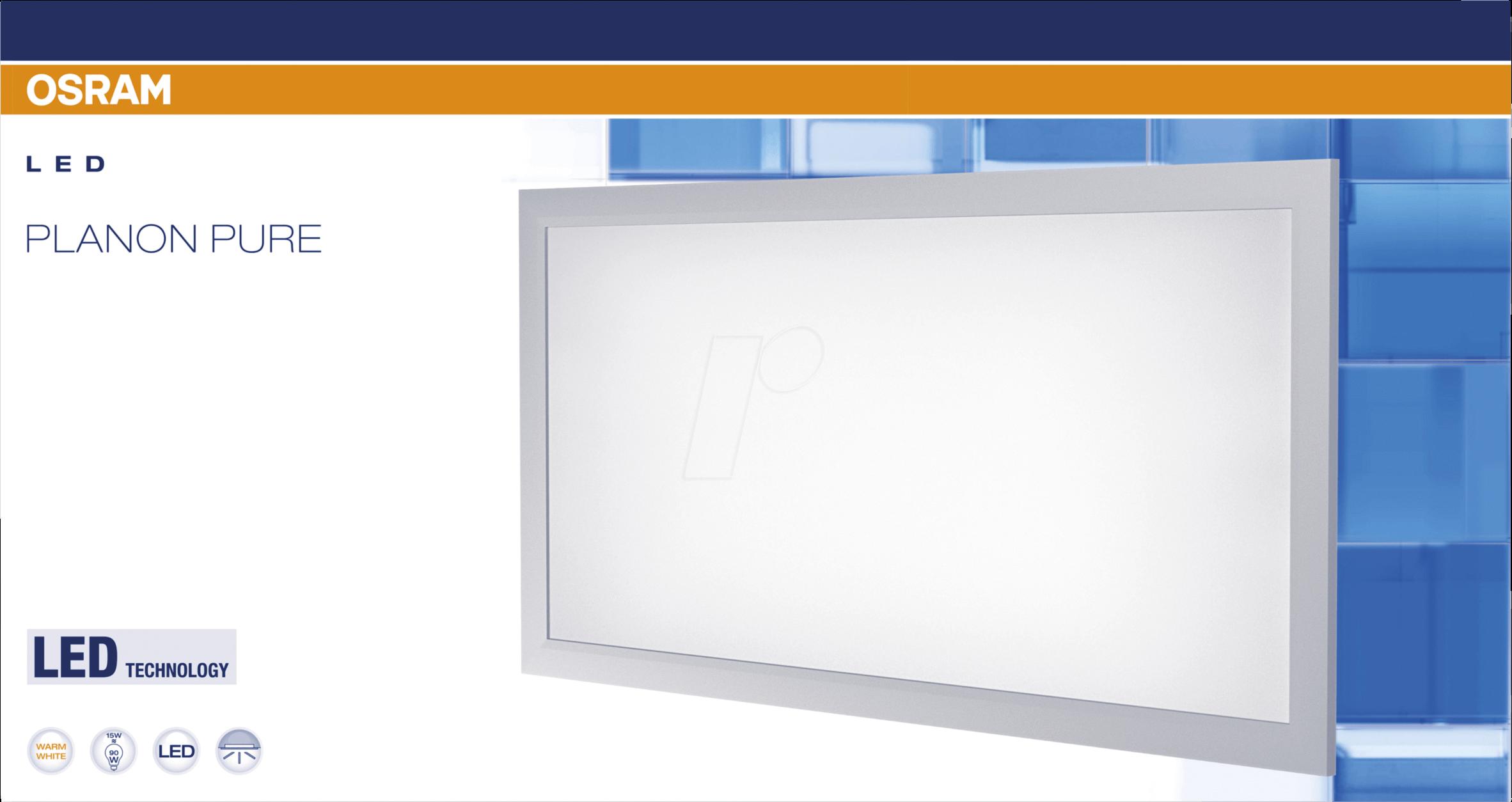 OSR 405807503540 - LED-Panel, PLANON PURE, 15 W, 1400 lm, 4000 K