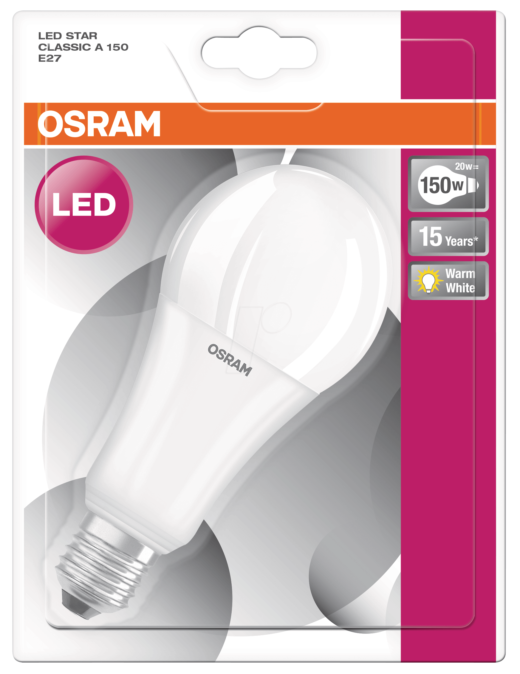 osr 899959118 osram led star cl a 150 20 w e27 at reichelt elektronik. Black Bedroom Furniture Sets. Home Design Ideas