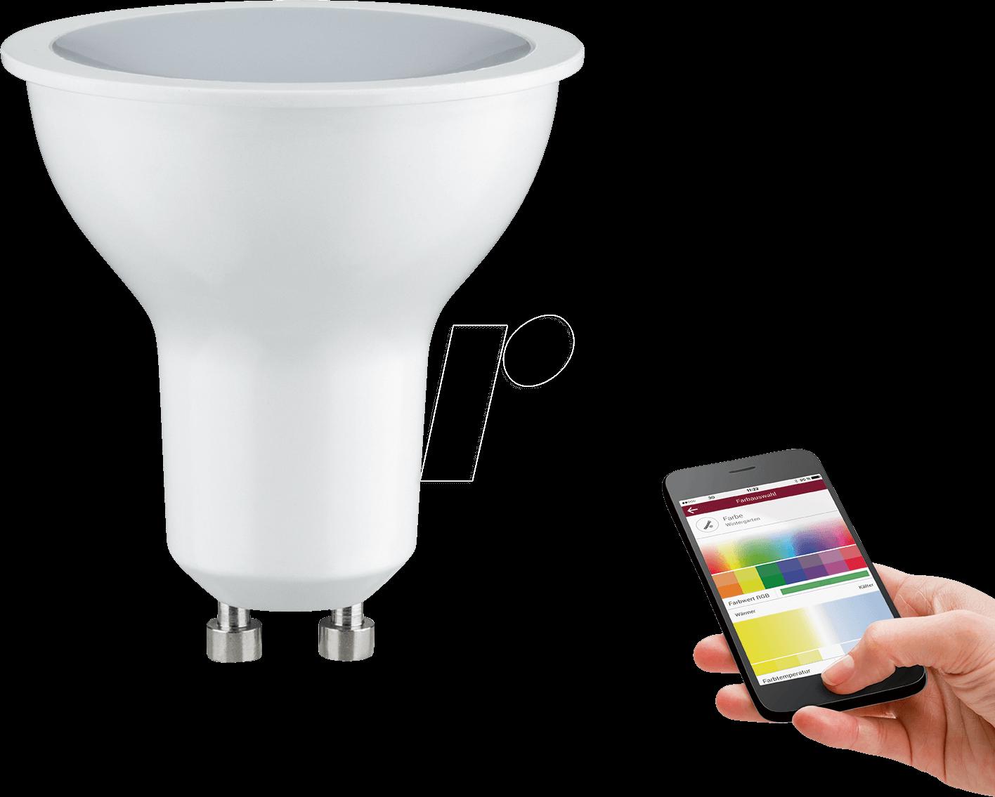 PLM 50021 - Teen LED-Reflektor, GU10, RGB, satiniert, 3 W, EEK B