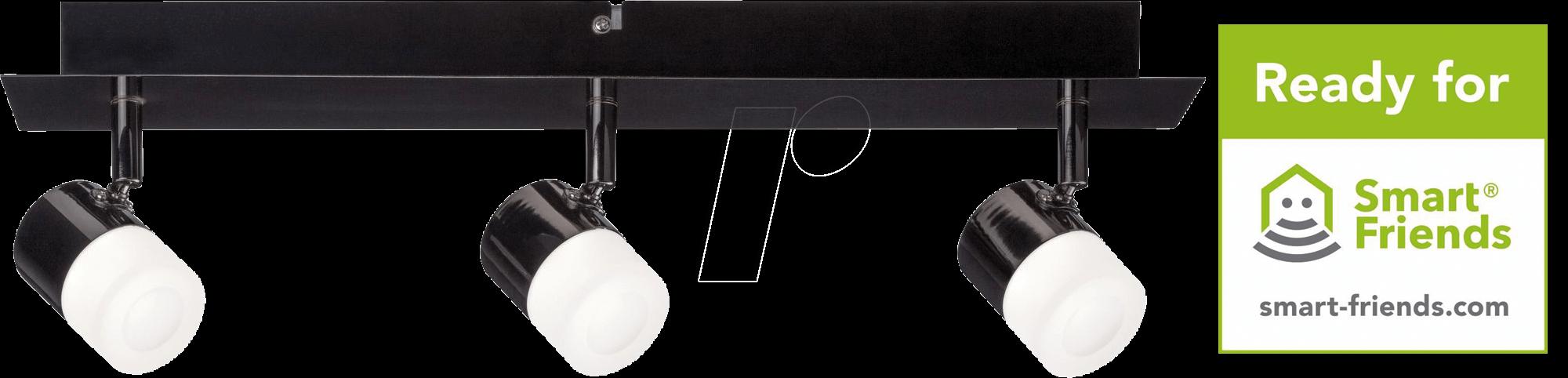 plm 50099: smart light, zigbee, spot deon à 3 lampes, classe d