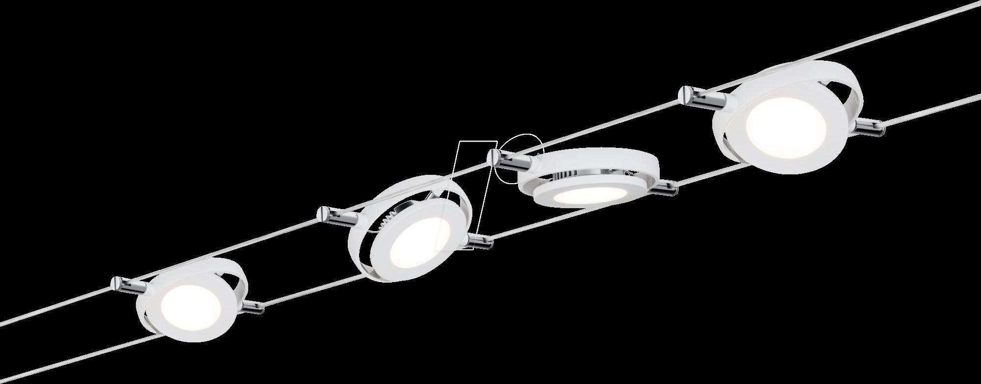 Plm 50107 smart light seilsystem roundmac 4x4w eek a for Binario paulmann