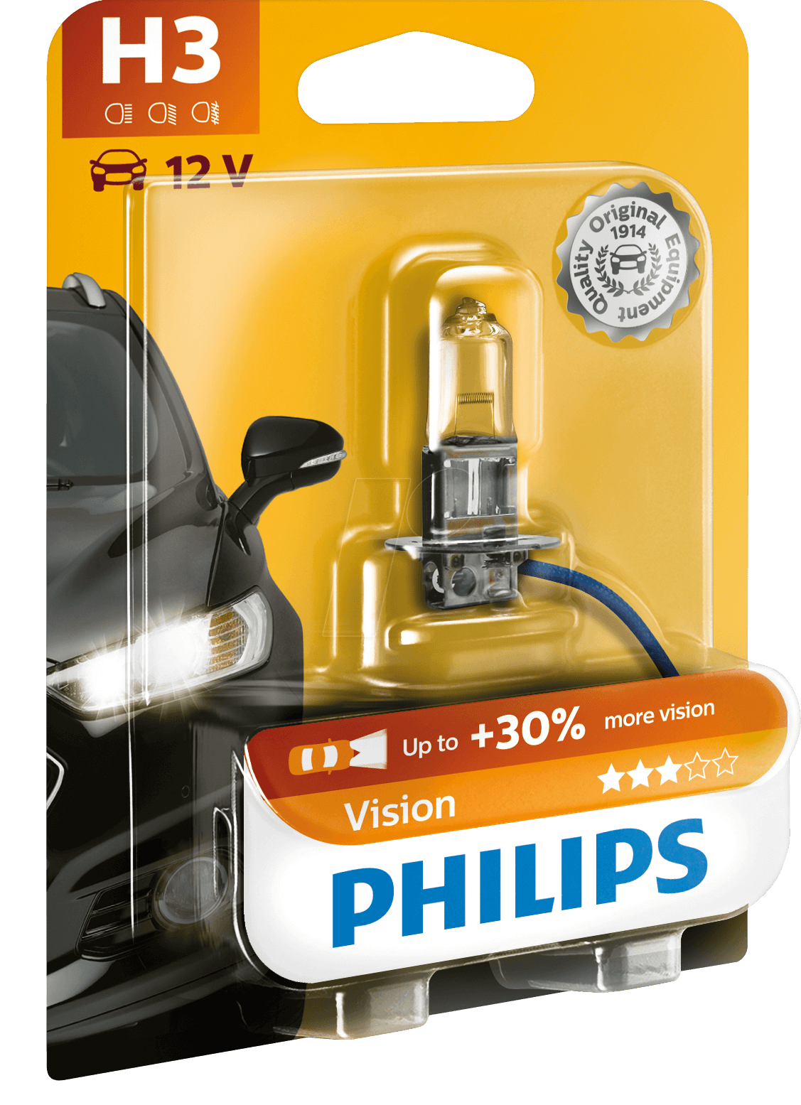 PHI H3 VISION - H3 headlight bulb Philips Vision