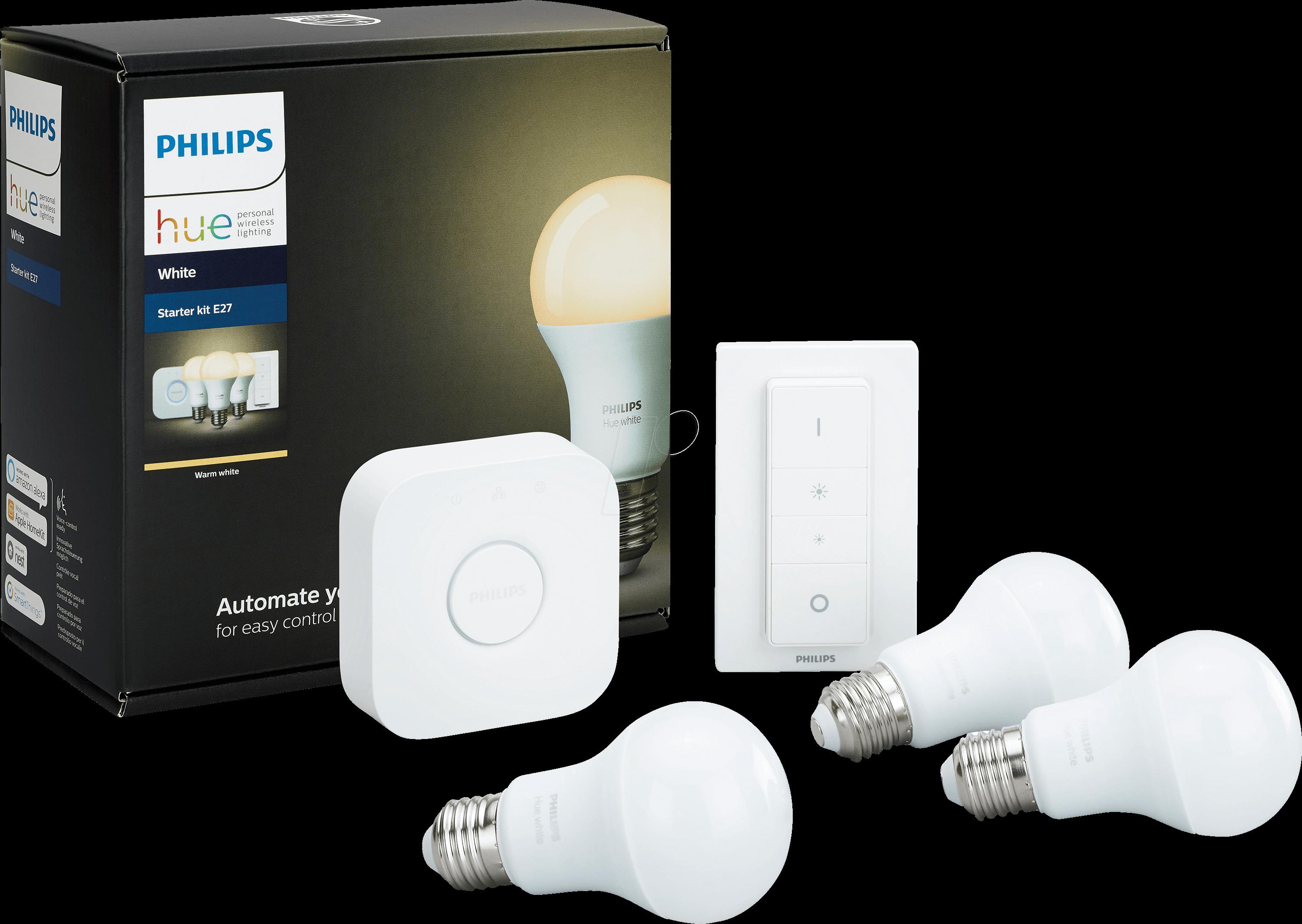 PHI 696728987 - Smart Light, Hue White Starter-Kit, E27, EEC A+