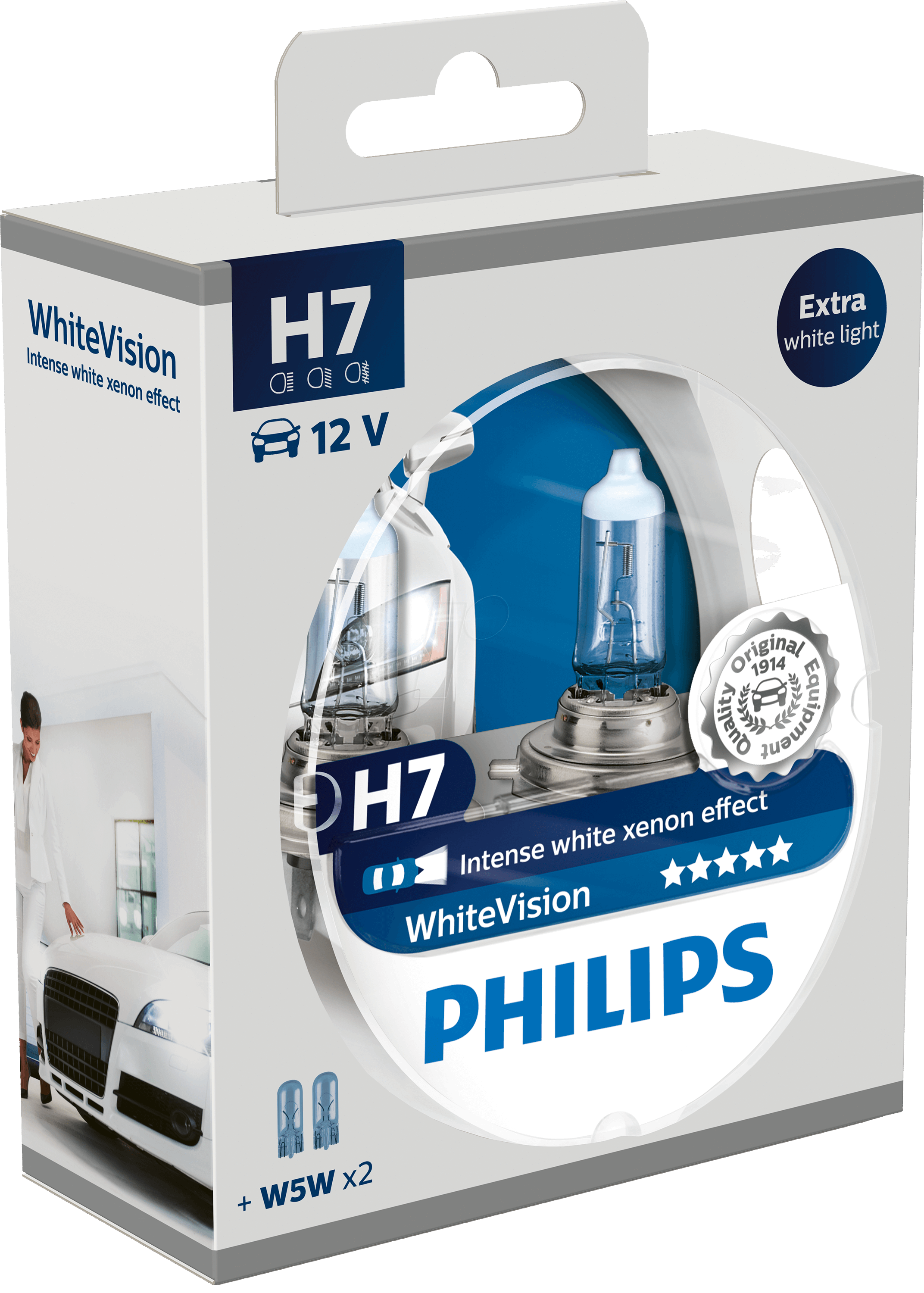 phi h7 white2 h7 headlight bulb philips white vision twin pack at reichelt elektronik. Black Bedroom Furniture Sets. Home Design Ideas