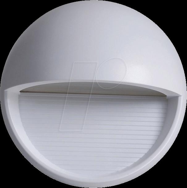 VT-1406 - Wandleuchte, Stufendesign, 3 W, 210 lm, 3000 K, rund, grau
