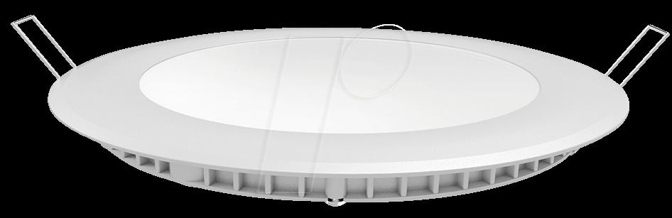 VT-4855 - LED-Panel, 6 W, 420 lm, 4500 K, rund
