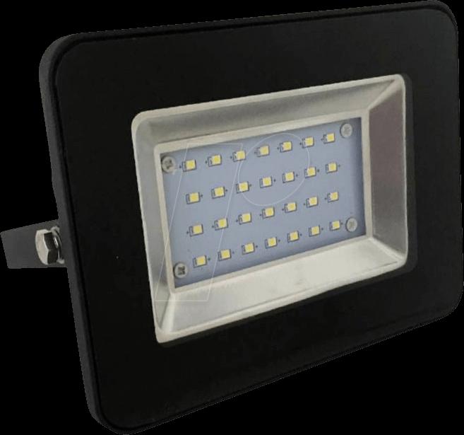 VT-5880 - LED-Flutlicht, 20 W, 1700 lm, 6000 K, schwarz, IP65