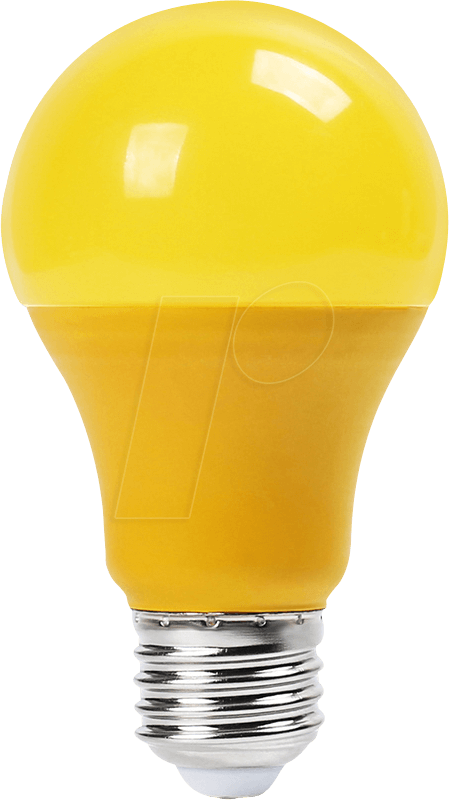 VT-7342 - LED-Lampe E27, 9 W, 570 lm, gelb