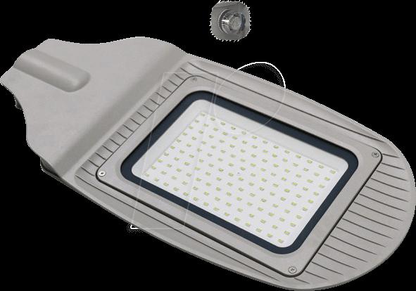 VT-5493 - Straßenleuchte, 50 W, 4000 lm, 4000 K, silber, IP65, Sensor