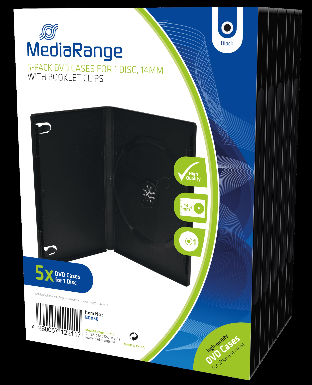 MR BOX30 - DVD Leerhülle für 1 Disc, 5er Pack