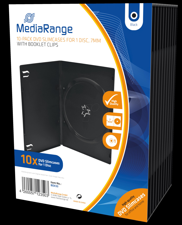MR BOX33 - DVD Leerhülle für 1 Disc, 10er Pack