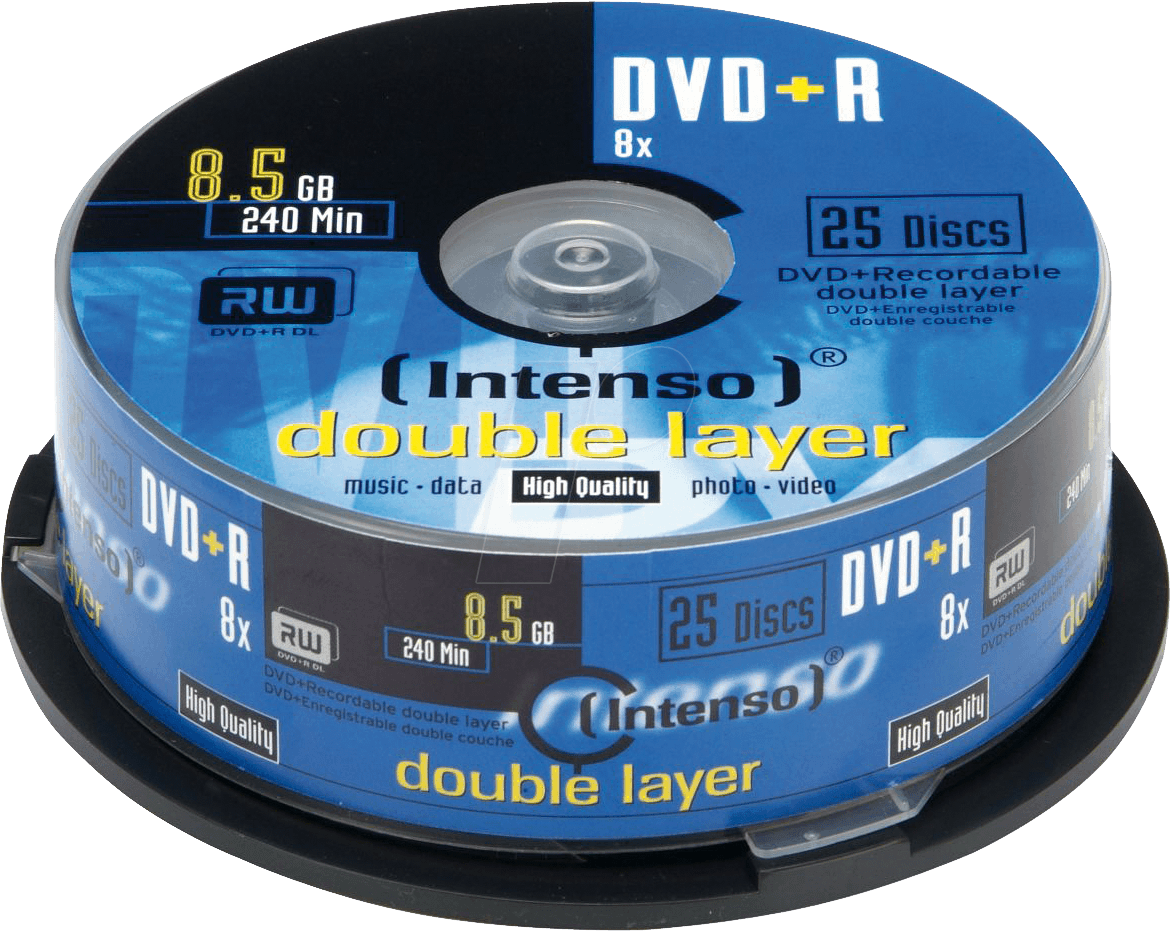 dvd r8 5 int25 intenso dvd r 8 5 gb 25 disc pack double. Black Bedroom Furniture Sets. Home Design Ideas