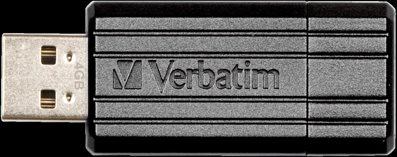 VERBATIM PS 8 - USB-Stick, USB 2.0, 8 GB, PinStripe Schwarz