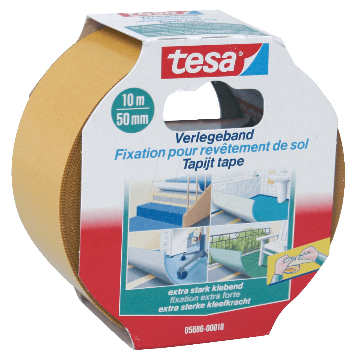 tesa 05686 tesa laying tape extra strong 10 m x 50 mm at reichelt elektronik. Black Bedroom Furniture Sets. Home Design Ideas