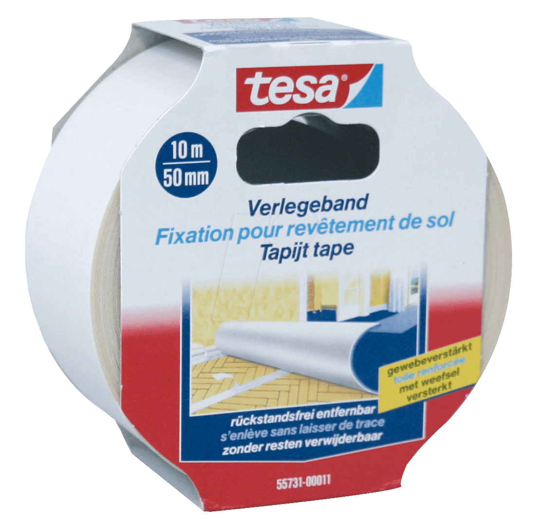 tesa 55731 tesa laying tape removable 10 m x 50 mm at reichelt elektronik. Black Bedroom Furniture Sets. Home Design Ideas
