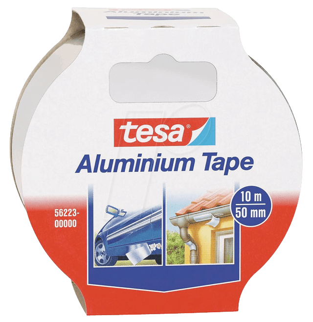tesa 56223 aluminium tape 10 m x 50 mm bei reichelt elektronik. Black Bedroom Furniture Sets. Home Design Ideas