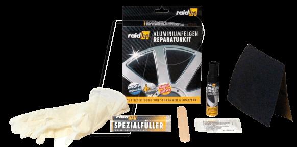 raid 340001 kfz aluminiumfelgen reparatur kit silber bei. Black Bedroom Furniture Sets. Home Design Ideas