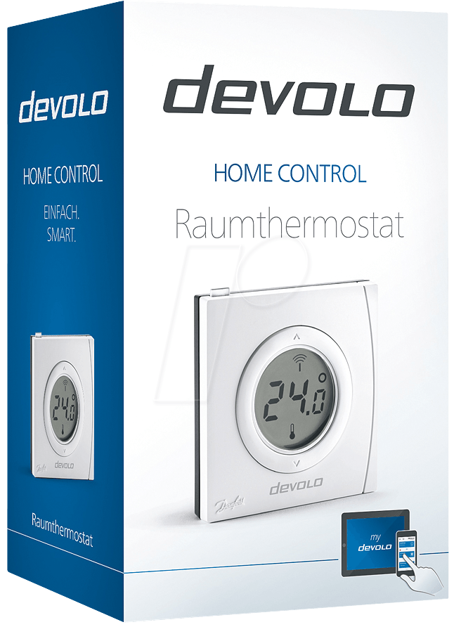 devolo 9361 devolo home control room thermostat at reichelt elektronik. Black Bedroom Furniture Sets. Home Design Ideas