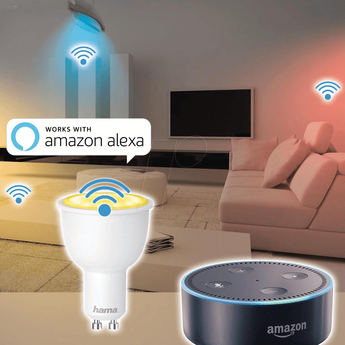 hama 176532 smart light lampe gu10 4 5w rgbw eek a wlan bei reichelt elektronik. Black Bedroom Furniture Sets. Home Design Ideas