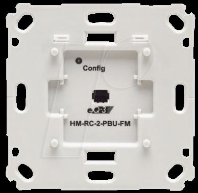 HM RC-2-PBU-FM - Funk-Wandtaster, 2-fach, Markenschalter, Unterputz