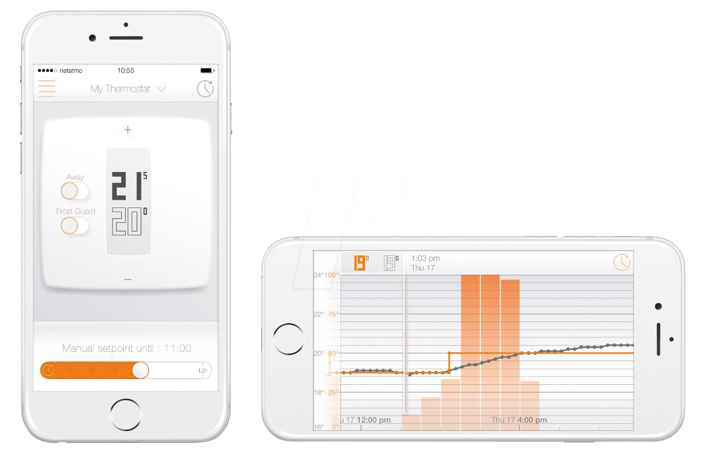 Netatmo therm thermostat mit app f r smartphone iphone for Minimalistisches smartphone
