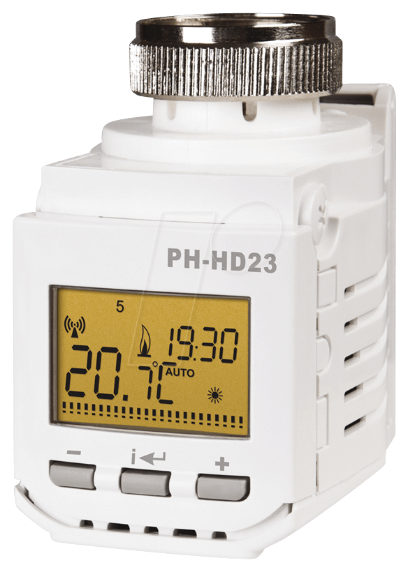 EB PH-HD23 - Heizkörperthermostat mit Display Home Control, Funk 433,92 MHz