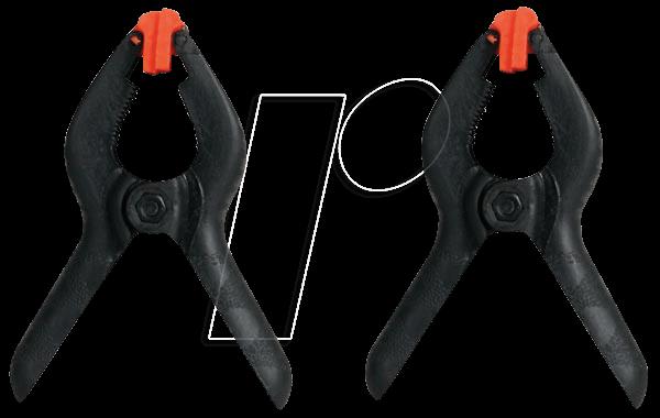 VEL HPC110 - Federzwingen, Nylon, 110 mm