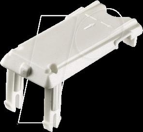 GST18 WS - Verriegelunsschieber für GST18, weiß