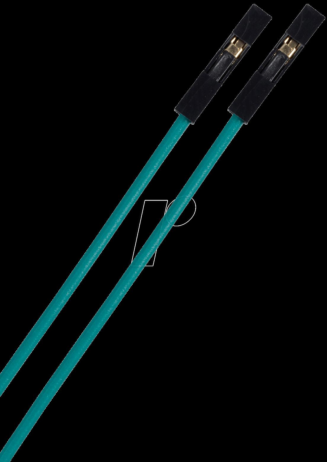 STECKBOARD KBBGN - Flexible Drahtbrücken, 5 cm, Buchse-Buchse, 10er-Pack