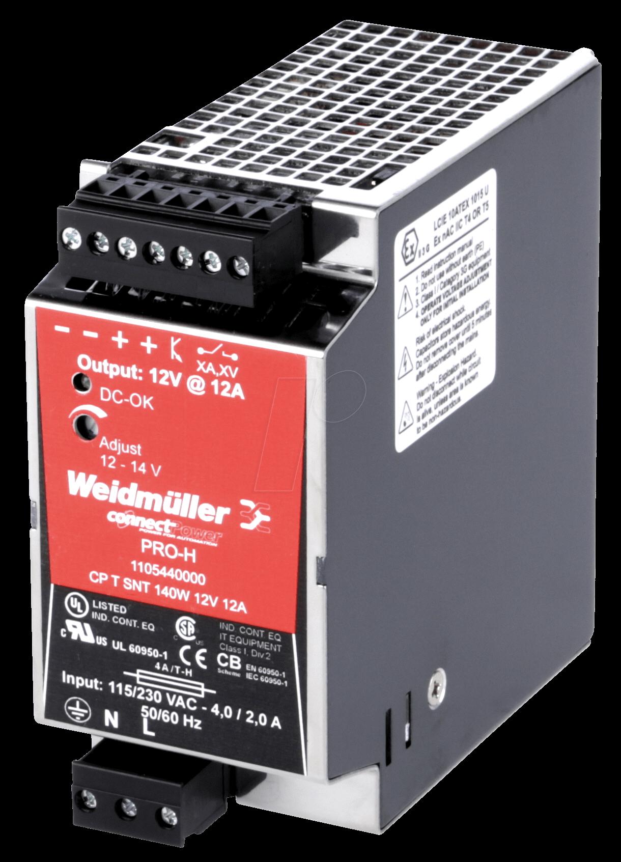 RD POWER 1 - Schaltnetzteil / 12 A, CP T SNT 140W 12V 12