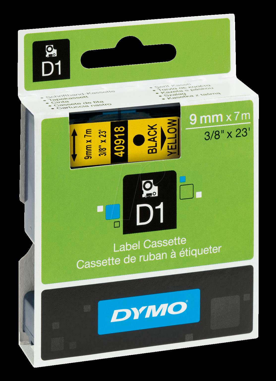 """6x Schwarz auf Gelb VINYL Beschriftungsbänder für Dymo 18431 LM 450 Duo 9mm 3//8/"""""""